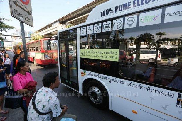 태국 야당, 방콕 시내 스마트 전기 버스 도입 주장