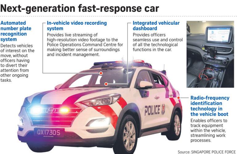 싱가포르 경찰차, 신기술과 한국산 차량으로 대거 업그레이드 예정